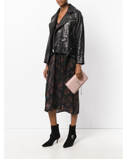 7d7d70c953b ... Saint Laurent - Pink Medium Kate Tassel Satchel - Lyst ...