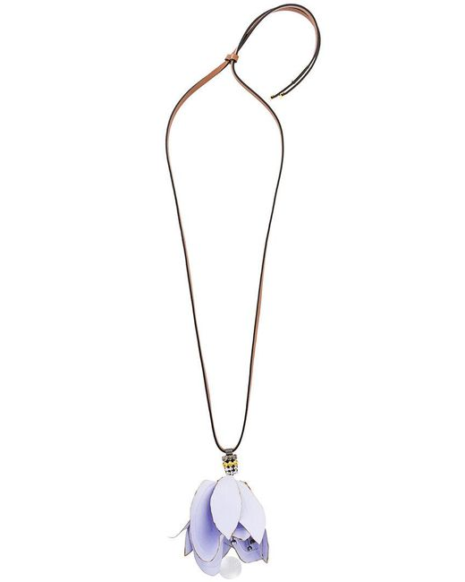 Marni | Brown Large Floral Pendant Necklace | Lyst
