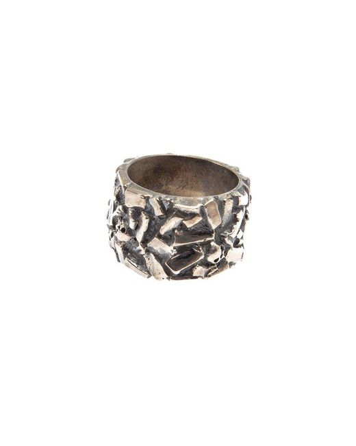 Tobias Wistisen - Metallic 'chaotic' Ring for Men - Lyst