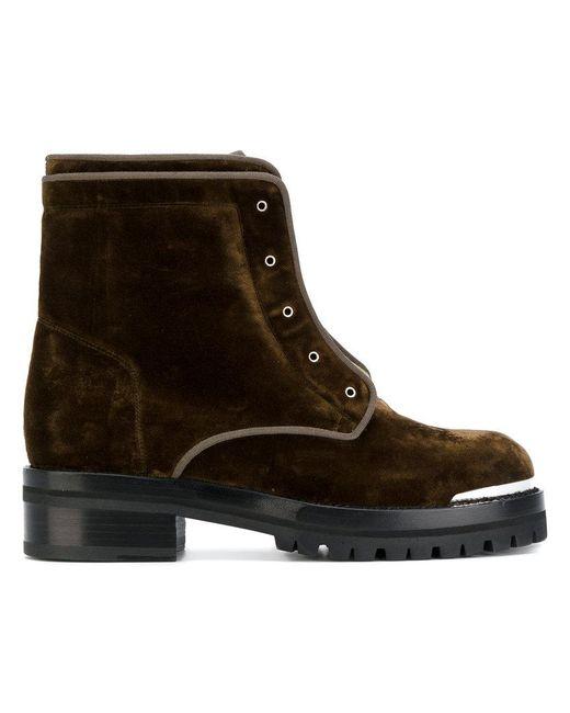 Alexander McQueen | Green Zip Front Boots for Men | Lyst