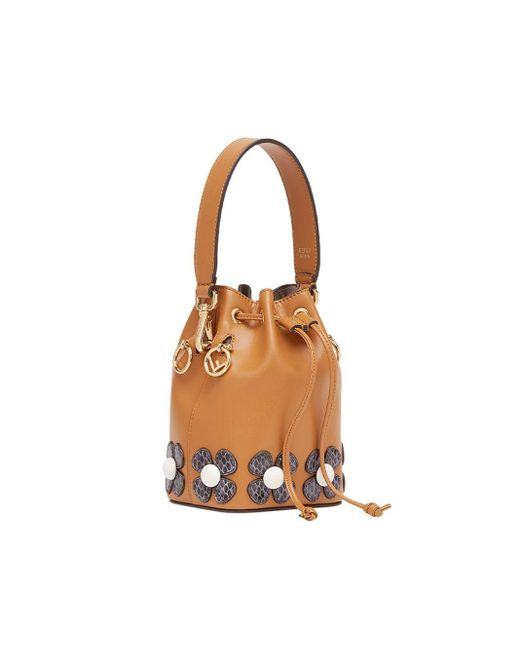 1e5cdd01d5 ... Fendi - Brown Mini Mon Tresor Bucket Bag - Lyst ...