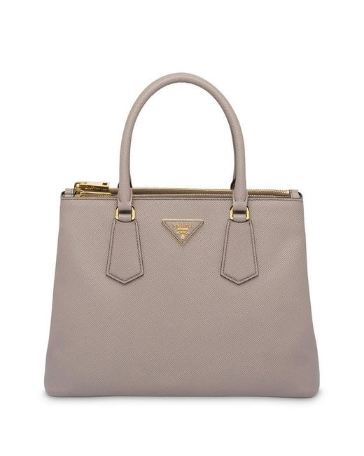 34abedbc28f0 Prada - Gray Galleria Top Handle Bag - Lyst ...