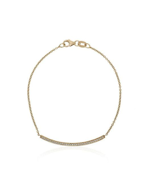 Lizzie Mandler - Metallic Yellow Gold Knife Edge Pave Diamond Bracelet - Lyst