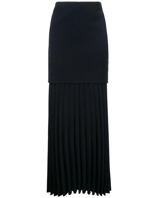 Dion Lee - Blue Linear Pleated Skirt - Lyst