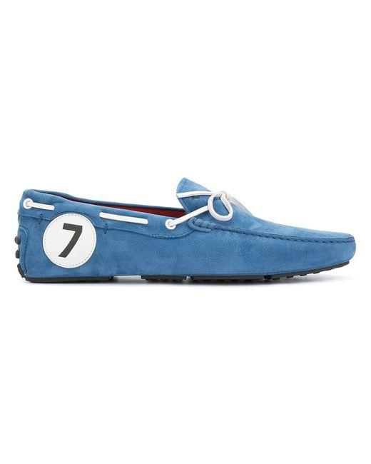 Tod's - Blue X Ferrari Gommino Driving Shoes for Men - Lyst