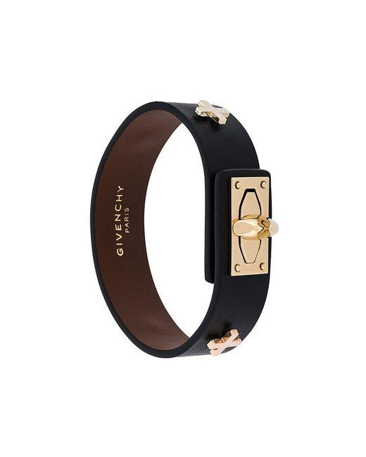 Givenchy - Black Buckled Bracelet - Lyst
