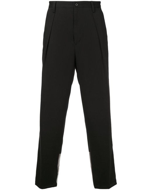 Guild Prime - Black Metallic Panel Tailored Trousers for Men - Lyst