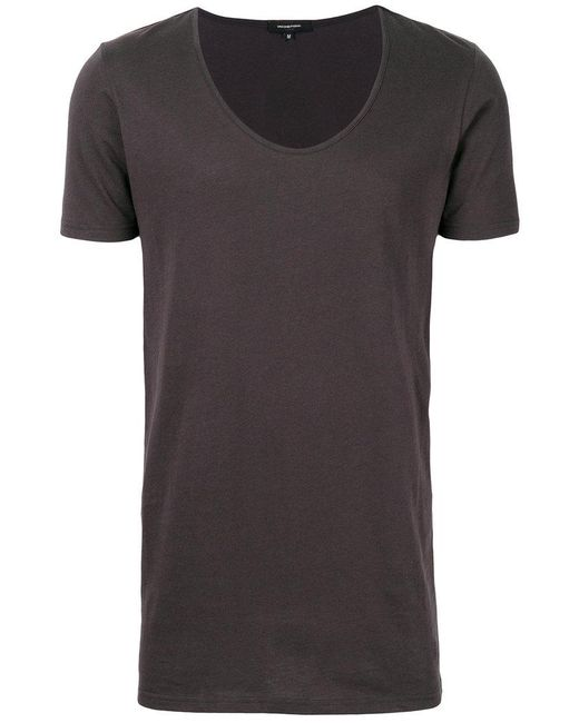lyst unconditional deep u neck t shirt in gray for men