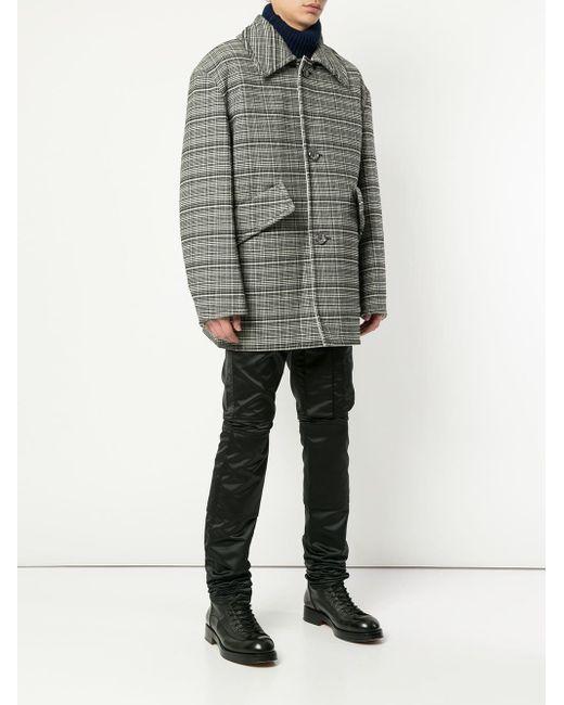 3a37af42e977 ... Raf Simons - Black Check Print Oversized Blazer for Men - Lyst ...