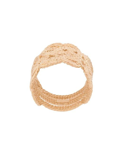 Aurelie Bidermann - Metallic Braided Woven Ring - Lyst