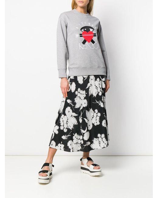 ae6c90f32 ... KENZO - Gray I Love Capsule Sweatshirt - Lyst ...