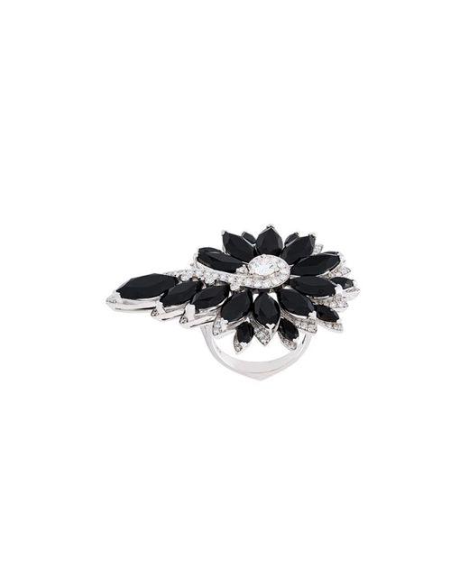 Stephen Webster   Black Flower Diamond Ring   Lyst