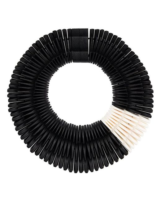 Monies - Black Three Layers Necklace - Lyst