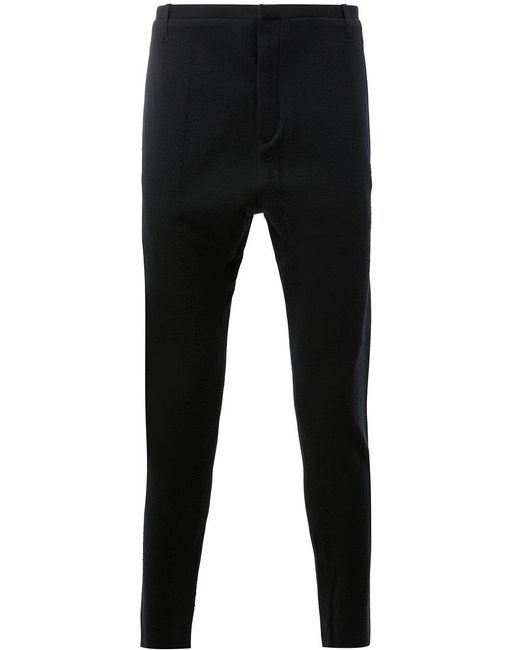 Label Under Construction - Black Pantaloni Slim Sartoriali for Men - Lyst