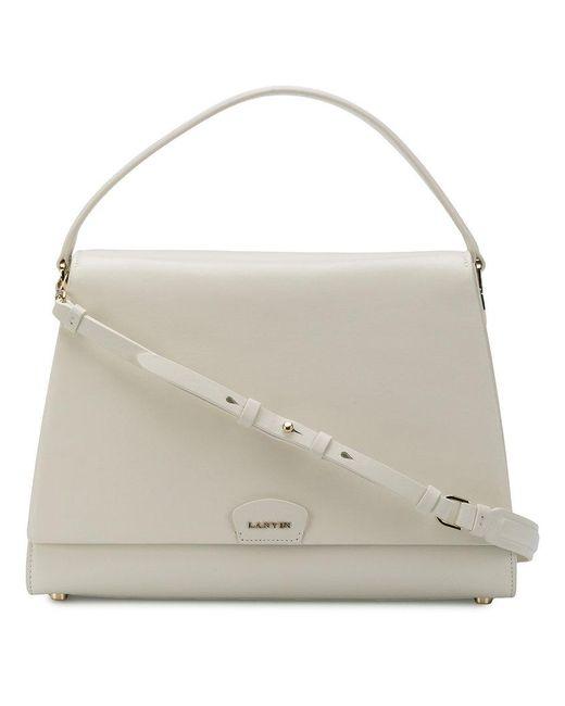 Lanvin - White Classic Tote - Lyst