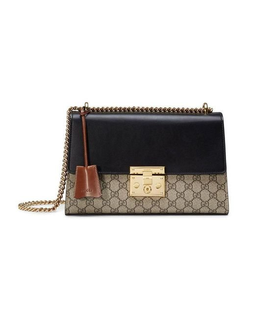 Gucci - Brown Padlock GG Supreme Shoulder Bag - Lyst