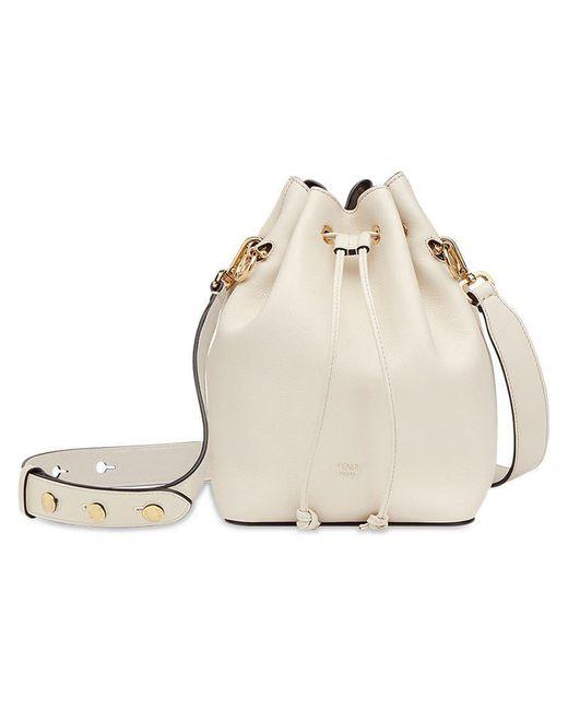 0d097b419813 Fendi - White Mon Tresor Bucket Bag - Lyst ...