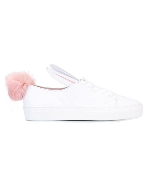 Minna Parikka | Bunny White Leather Trainers - Size 6 | Lyst
