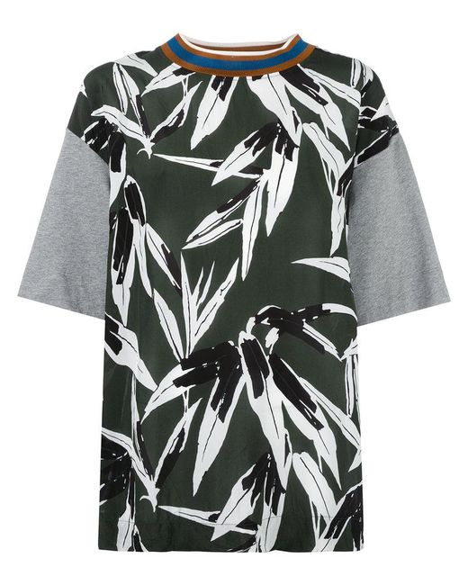 Marni print t shirt in green lyst for Sustainable t shirt printing