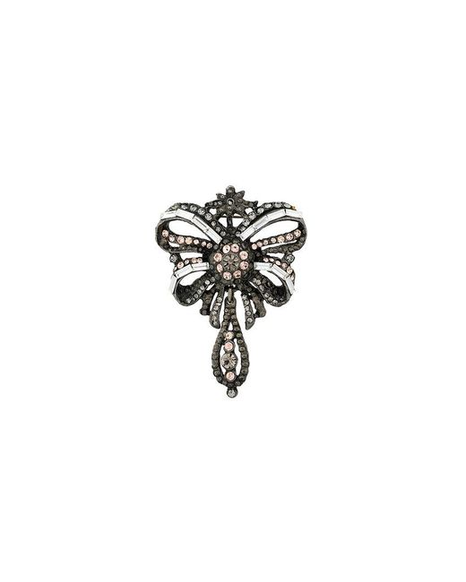 Philosophy Di Lorenzo Serafini | Metallic Crystal Embellished Brooch | Lyst