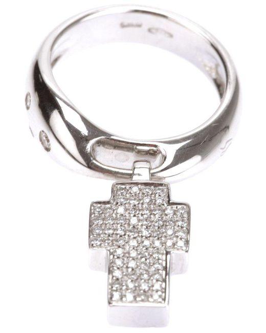 Gavello - Metallic Cross Ring - Lyst