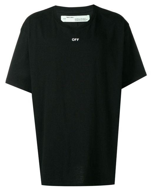 T-shirt oversize imprimé Off-White c/o Virgil Abloh pour homme en coloris Black