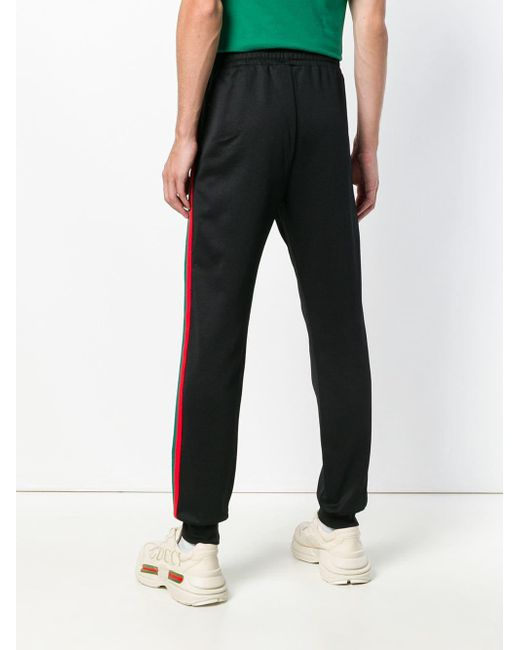 79534c769c085 ... Gucci - Black Relaxed Track Trousers for Men - Lyst