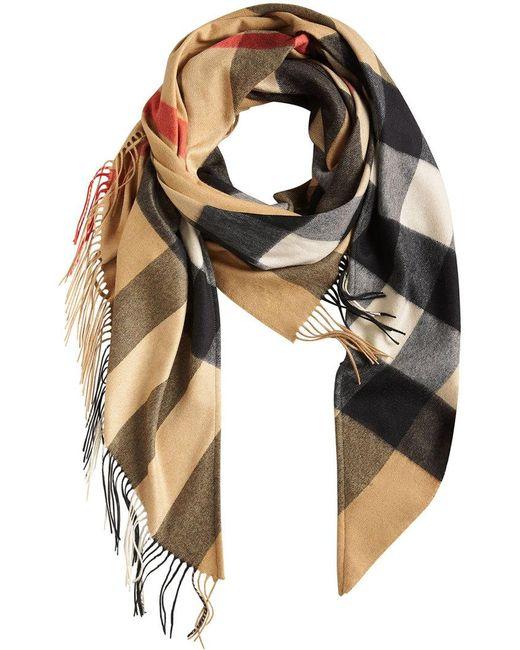 Burberry - Multicolor Check Cashmere Wrap - Lyst