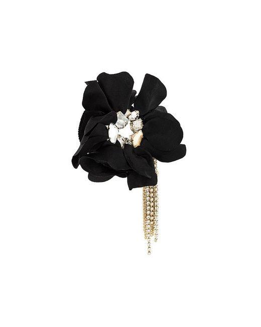 Lanvin - Black Flower Applique Bracelet - Lyst