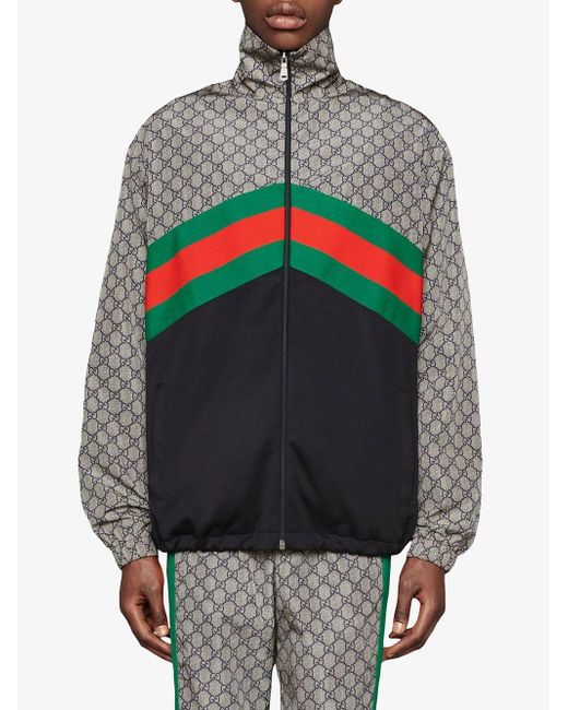 ... Gucci - Gray Giacca Oversize In Jersey Tecnico for Men - Lyst ... 774ef3d5cd56