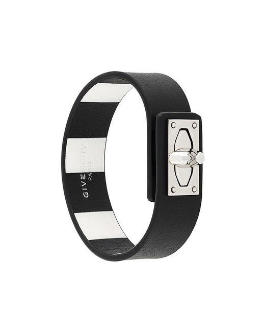 Givenchy - Black Shark Lock Bracelet for Men - Lyst