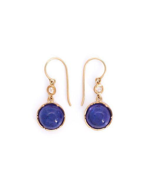 Irene Neuwirth - Blue Tanzanite And Diamond Drop Earrings - Lyst