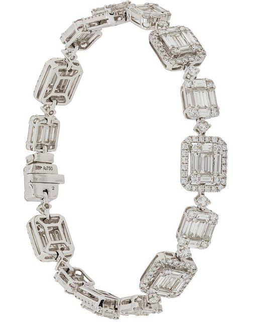 Gemco - Metallic 18kt White Gold And Diamond Bracelet - Lyst