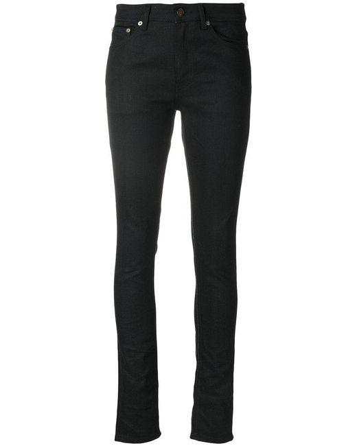 Saint Laurent   Black Jeans Slim Crop   Lyst