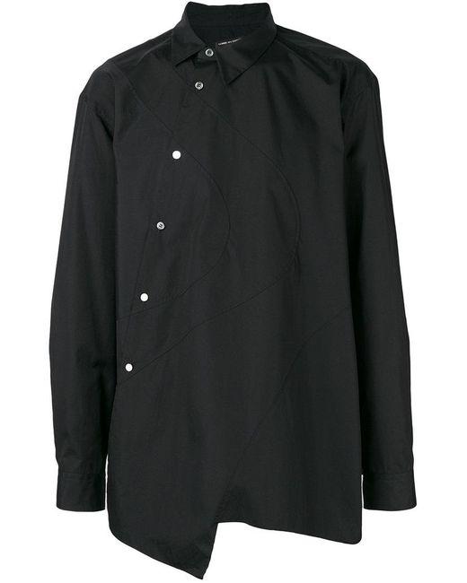 Shirt For Off Des Black Buttoned Asymmetric In Garçons Centre Comme xwanq1zdYz