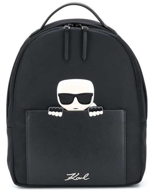 186348fbf7f Karl Lagerfeld - Black K/ikonik Small Backpack - Lyst ...