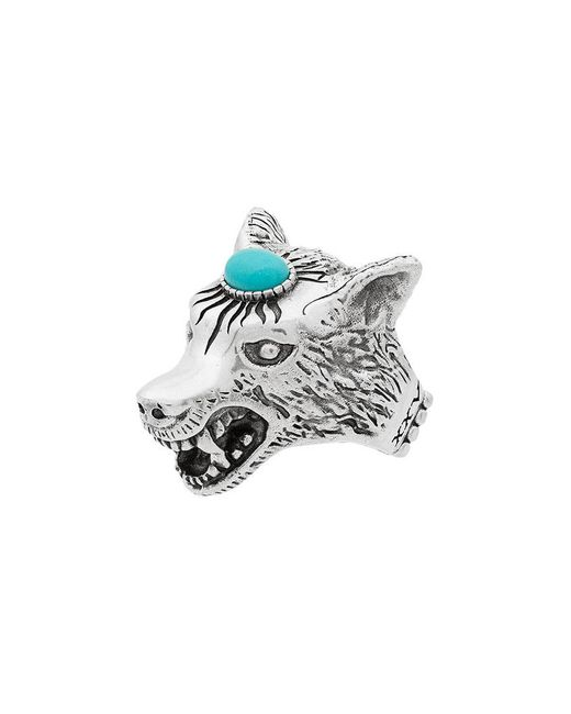 f342ed0b2 Gucci - Multicolor Anillo Anger Forest con cabeza de lobo for Men - Lyst ...