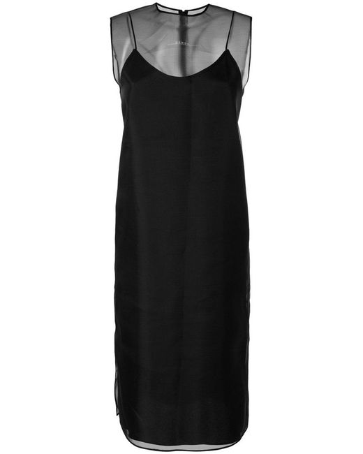 Demoo Parkchoonmoo - Black Sheer Layered Midi Dress - Lyst