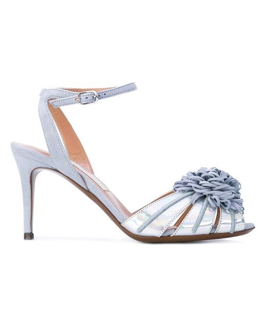 L'Autre Chose | Blue Tangled Applique Sandals | Lyst
