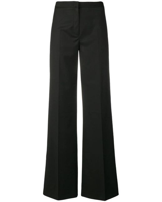 Tonello - Black Flared Tailored Trousers - Lyst