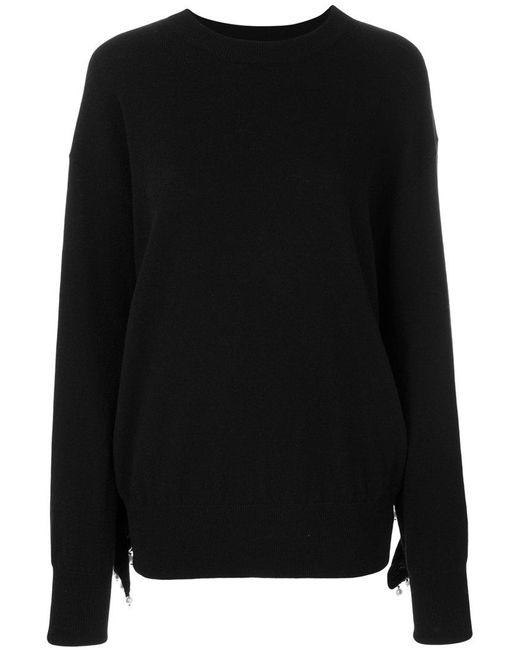 Laneus - Black Pearl Embellished Jumper - Lyst