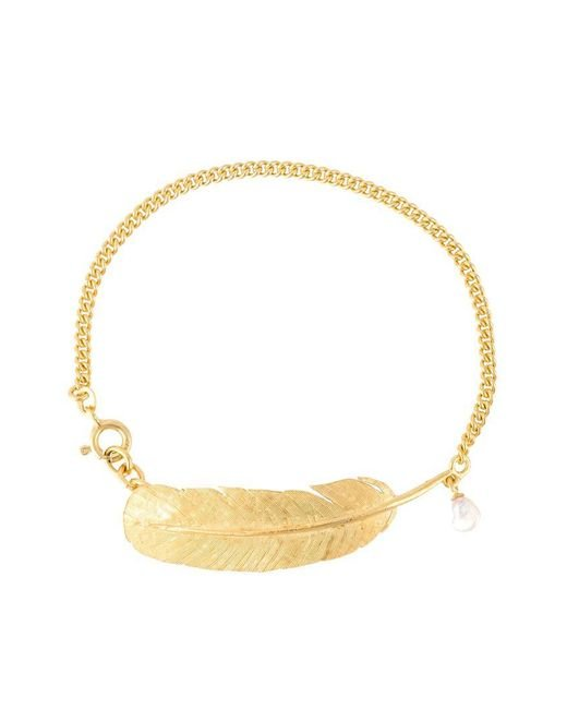 Wouters & Hendrix - Metallic 'my Favourite' Feather And Pearl Bracelet - Lyst