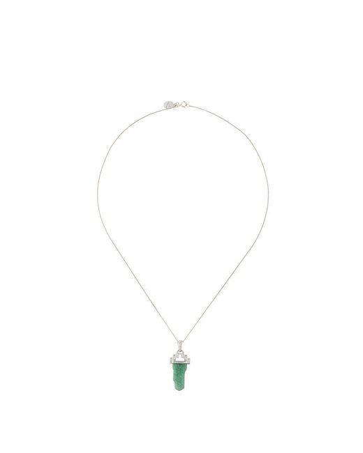 V Jewellery - Metallic Deco Tower Pendant Necklace - Lyst