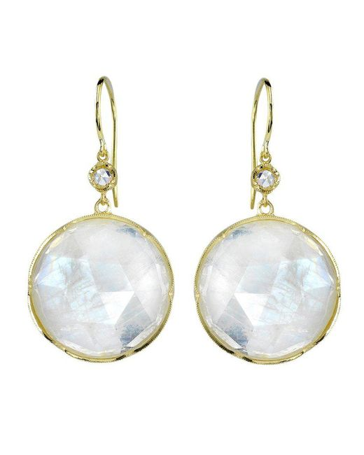 Irene Neuwirth - Metallic Moonstone And Diamond Earrings - Lyst