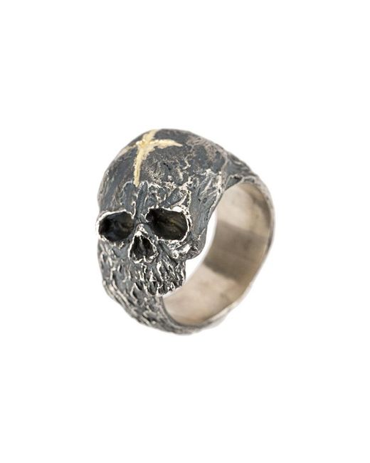 Tobias Wistisen - Metallic Cross & Skull Ring for Men - Lyst