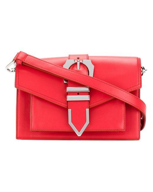 Versus    Red Buckled Strap Shoulder Bag   Lyst