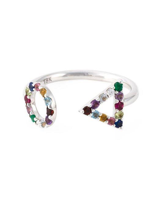 Eshvi - Metallic 18kt White Gold Gemstone Ring - Lyst