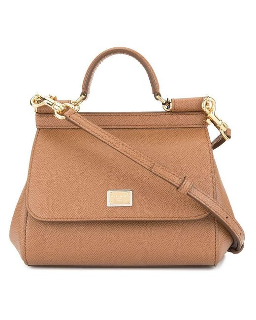 Dolce & Gabbana - Brown Mini Sicily Bag - Lyst