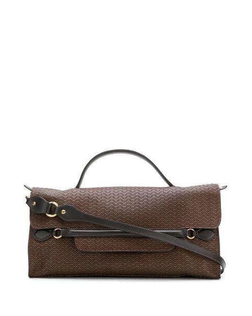 Zanellato Brown Embossed Nina Bag