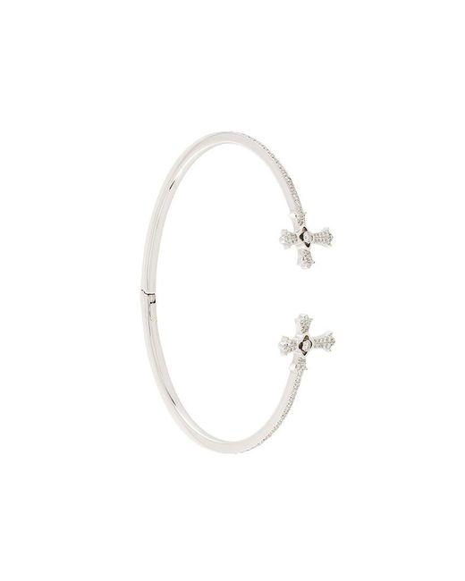 Elise Dray - Metallic Diamond Twin Cross Bracelet - Lyst